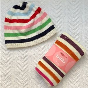 Gymboree tights and GAP beanie